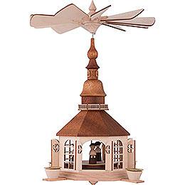 1 - stöckige Pyramide Seiffener Kirche  -  30cm