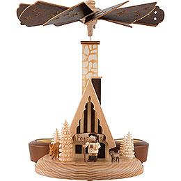 1 - stöckige Räucherpyramide Forsthaus  -  26cm