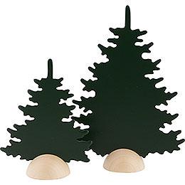 2 Tannen  -  grün  -  20cm