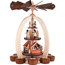 3 - Tier Pyramid Christmas Market  -  Exclusive  -  44cm / 17.3 inch