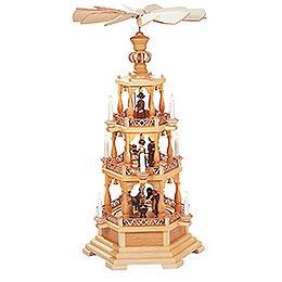 3 - Tier Pyramid  -  The Christmas Story  -  100cm / 39 inch  -  230 V Electr. Motor