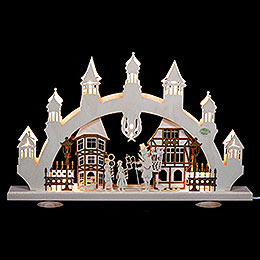 3D Candle Arch  -  Old Town  -  47x31x6cm  -  18,5x12x2,4 inch