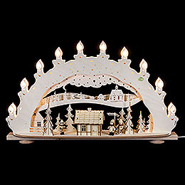 3D Candle Arch  -  'Ski Lodge  -  Smoker House'  -  66x40x11,5cm / 26x16x5 inch
