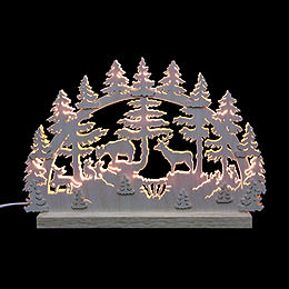 3D Double Arch  -  Animals in Forest  -  42x30x4,5cm / 16x12x2 inch