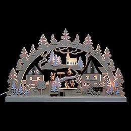 3D Double Arch  -  Erzgebirge Village  -  62x37x5,5cm / 24x14x2 inch
