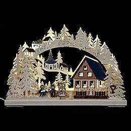 3D Double Arch  -  Pyramid House  -  43x30x7cm / 17x11x3 inch