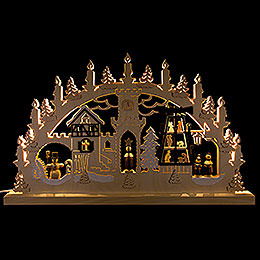 3D Double Arch  -  Pyramid Singers  -  62x37x5,5cm / 24x14x2 inch