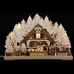 3D - Schwibbogen Molli - Weihnachtsbäckerei mit Raureif  -  43x30cm