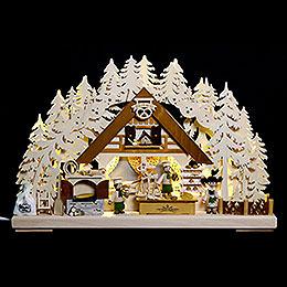 3D - Schwibbogen Weihnachtsbackstube  -  44x29x7cm