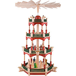 4 - Tier Pyramid  -  Nativity  -  53cm / 20.9 inch
