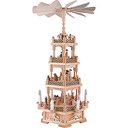 4 - Tier Pyramid  -  Nativity, Natural, Electric  -  61cm / 24.1 inch
