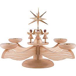 Adventsleuchter 4 stehende Engel natur  -  26cm