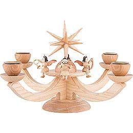Adventsleuchter mit 4 sitzenden Engeln  -  38x38x20cm