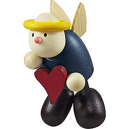Angel Hans Floating with Heart  -  7cm / 2.8 inch