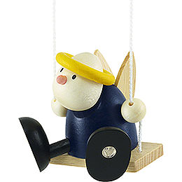 Angel Hans on Swing  -  7cm / 2.8 inch