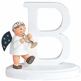 "Angel Letter ""B""  -  7cm / 2.8 inch"
