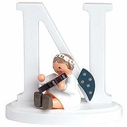"Angel Letter ""N""  -  7cm / 2.8 inch"