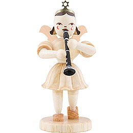 Angel Short Skirt with Clarinet, Natural  -  6,6cm / 2.6 inch