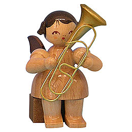 Angel with Baritone  -  Natural Colors  -  Sitting  -  5cm / 2 inch