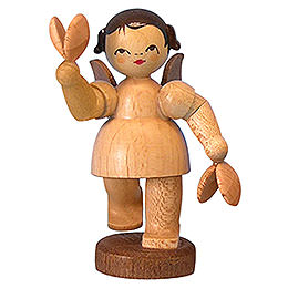 Angel with Castanets  -  Natural Colors  -  Standing  -  6cm / 2,3 inch
