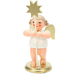 Angel with Star  -  8,5cm / 3.3 inch