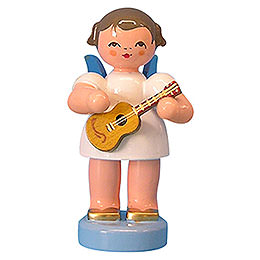Angel with Ukulele  -  Blue Wings  -  Standing  -  6cm / 2,3 inch