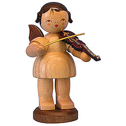 Angel with Violin  -  Natural Colors  -  Standing  -  9,5cm / 3,7 inch