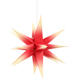 Annaberg Folded Star for Indoor Red - Yellow  -  35cm / 13.8 inch