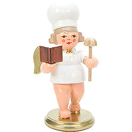 Baker Angel with Baking Book  -  7,5cm / 3 inch