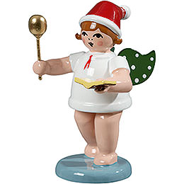 Baker Angel with Hat, Spoon and Cook Book  -  6,5cm / 2.5 inch