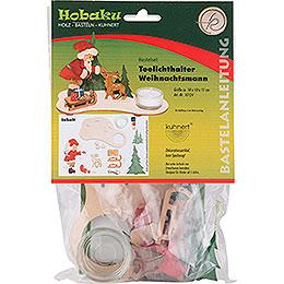 Bastelset Teelichthalter Weihnachtsmann  -  11cm