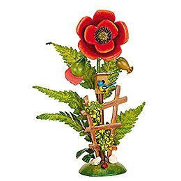 Blumeninsel Mohn  -  14cm