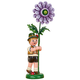 Blumenkind Junge mit Dahlie  -  11cm