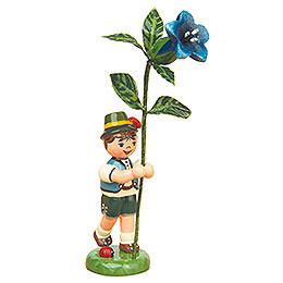 Blumenkind Junge mit Enzian  -  11cm
