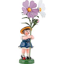 Blumenkind Mädchen mit Cosmea  -  24cm