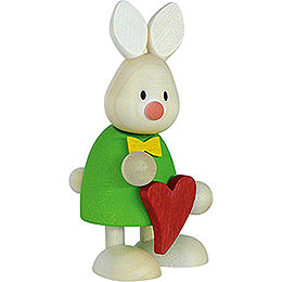 Bunny Max Standing with Heart  -  9cm / 3.5 inch
