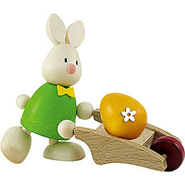 Bunny Max with Hand Cart  -  9cm / 3.5 inch