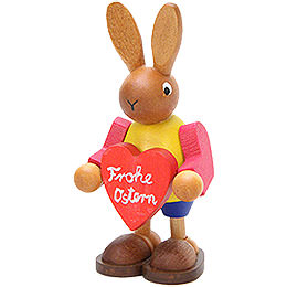 Bunny with Heart  -  8,5cm / 3.3 inch