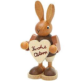 Bunny with Heart Natural  -  8,5cm / 3.3 inch