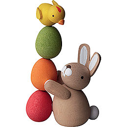 Bunny with Pile of Eggs  -  3,5cm / 2inch / 1.4 inch