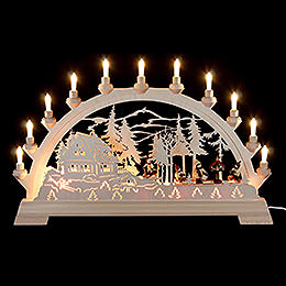 Candle Arch  -  Bird Feeding  -  65x40cm / 26x16 inch