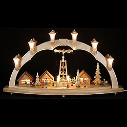 Candle Arch  -  Christmas Fair  -  31x17 inch  -  80x43cm / 16.9 inch