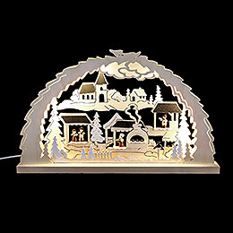 Candle Arch  -  Christmas Market  -  62x37x4,5cm / 24.4x14.6x1.7 inch