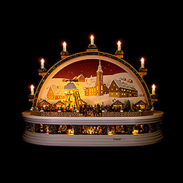 Candle Arch  -  Christmas Market at the Mine of Molch  -  Limited Edition  -  74x28x58cm / 29x11x23 inch