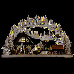 Candle Arch  -  Christmas time  -  72x43cm / 28.3x17 inch