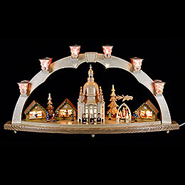 Candle Arch  -  Church of Our Lady with Pyramid  -  80x40cm / 31.5x15.8 inch