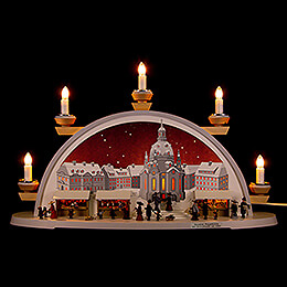 Candle Arch  -  Dresden Christmas Market Approx. 1900  -  54x32x12cm / 21x12.5x4.7 inch