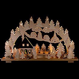 Candle Arch  -  Forest house  -  70x43cm / 28x17 inch