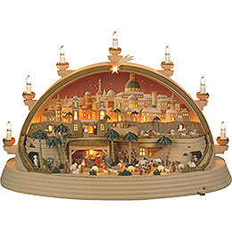Candle Arch  -  Nativity Scene in Bethlehem  -  Limited Edition  -  74x28x58cm / 29x11x23 inch