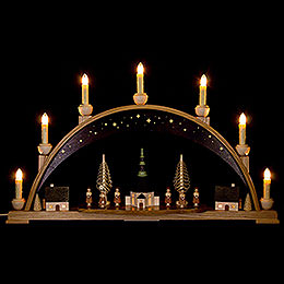 Candle Arch  -  Seiffen Church under Starry Sky   -  62x38cm / 24.4x15 inch